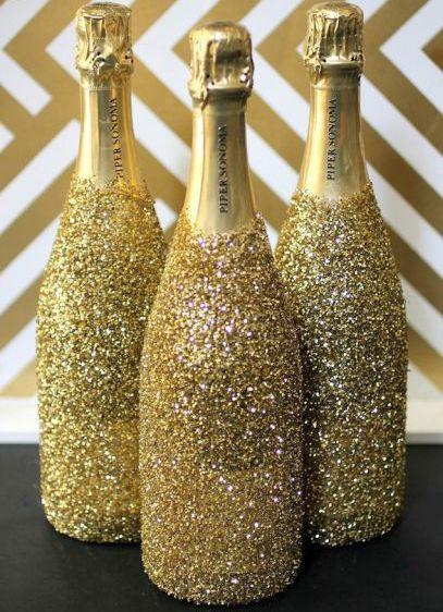 Garrafas de Champagne Decorada