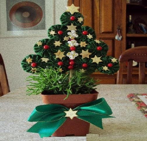 Árvore de Natal Feita de Fuxico – Como Fazer e Enfeitar