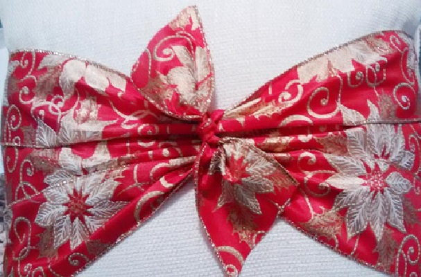 Almofadas Customizadas Para o Natal laço