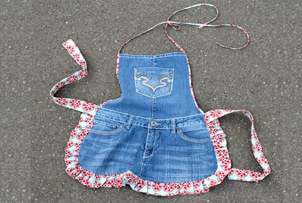 Avental de Jeans Velho – Como Fazer Passo a Passo