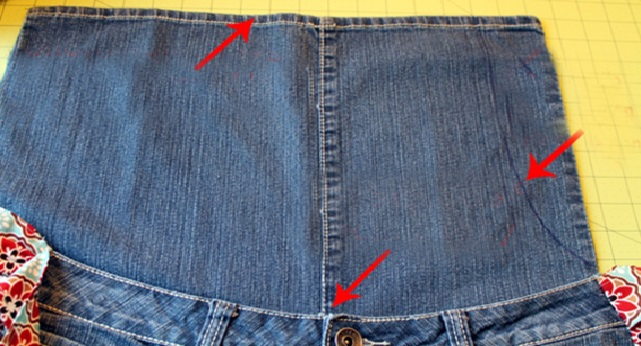 Avental de Jeans  perna