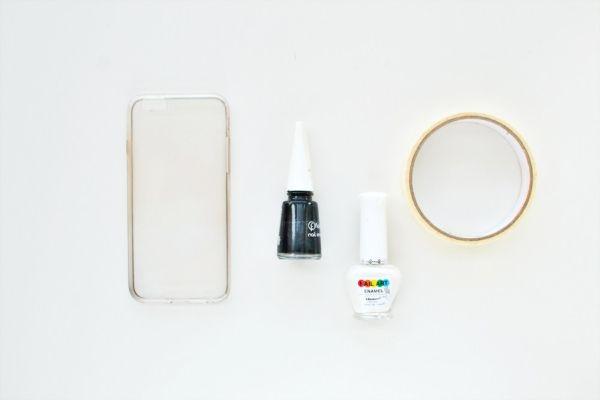 Capa de celular transparente material