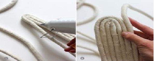 Cesto de cordas oval