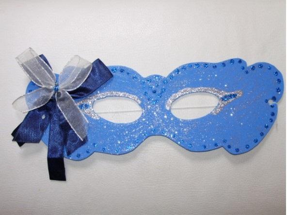 Moldes de Máscaras para Carnaval azul