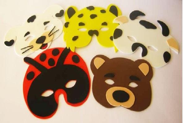 Moldes de Máscaras para Carnaval cores