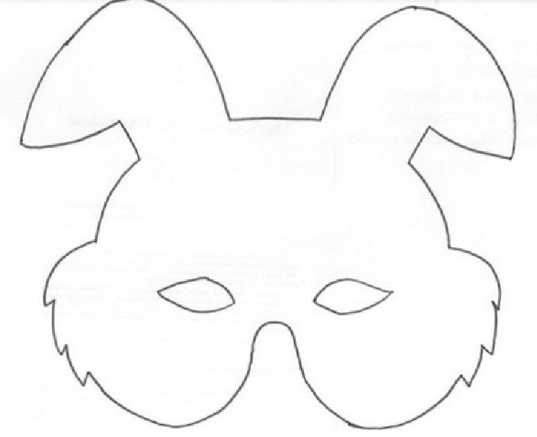 Moldes de Máscaras para Carnaval molde4
