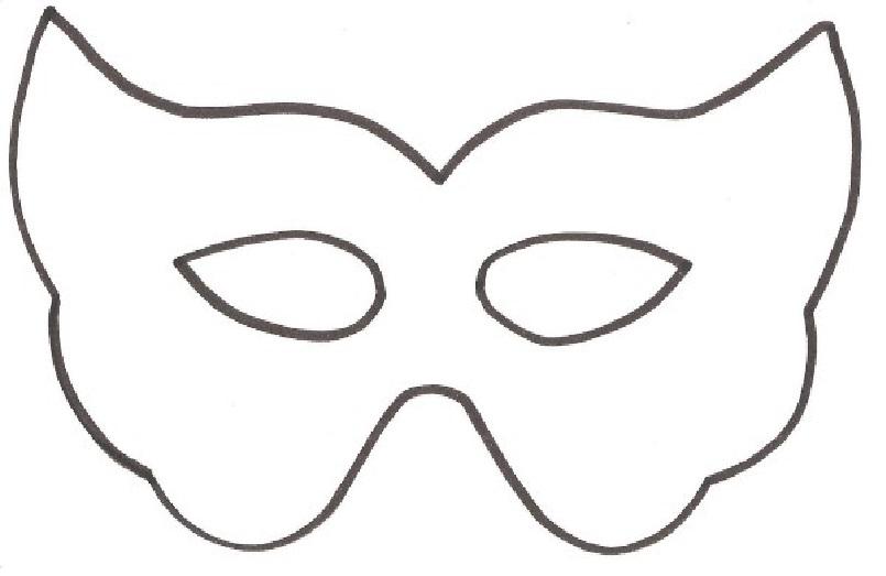 Moldes de Máscaras para Carnaval molde5