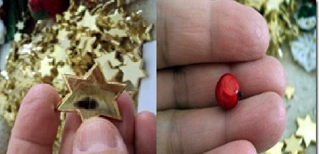 Natal com fuxico enfeite