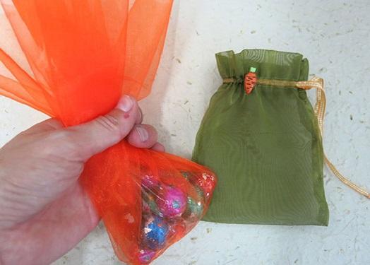 Embalagem Prática Para Páscoa saquinho