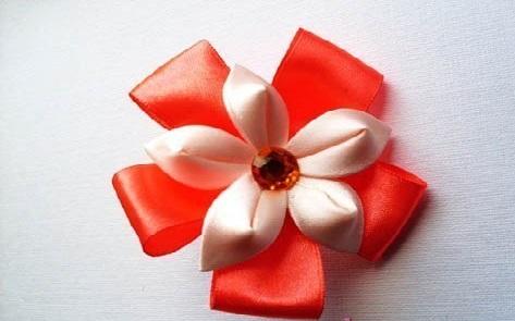 Flor de Cetim Para Elástico pronta