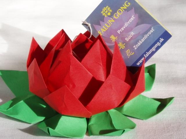Flor de Lotus Feito de Origami - Material e Como Faze