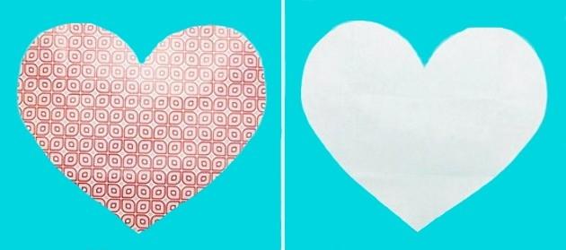 Fazer Envelope de Coração Feito de Cartolina