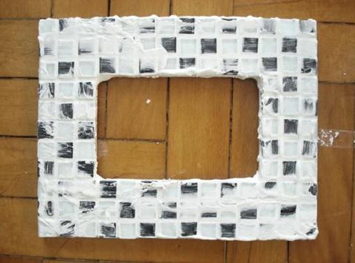 Mosaicos em Porta-Retratos –  secar