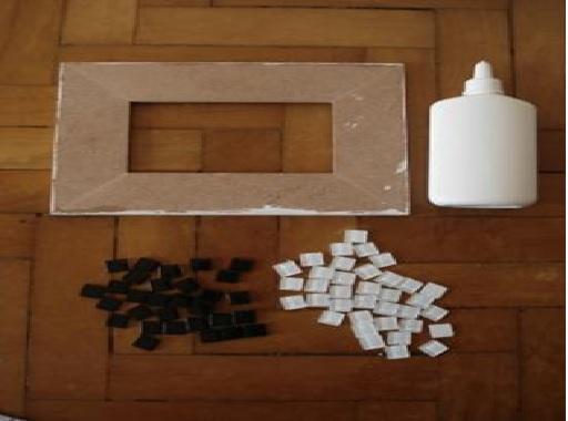 Mosaicos em Porta-Retratos .. Materiais  Como Fazer