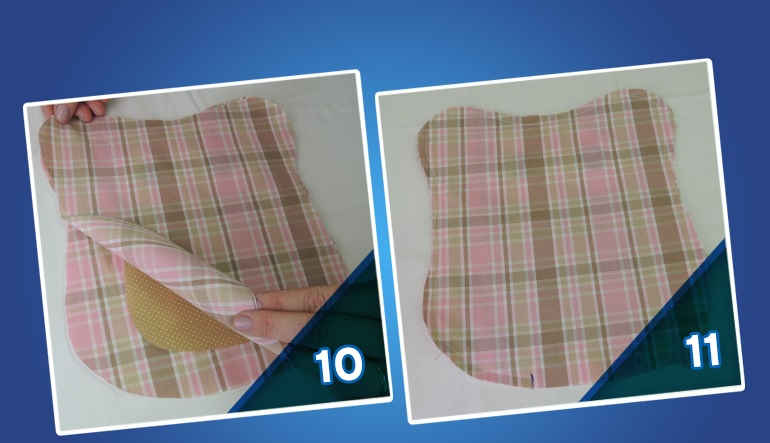 Peso de Porta Corujinha de Tecido -molde 10