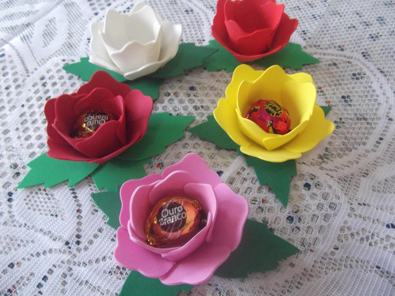 Porta Bombom Flor de Eva – Material e Como Fazer