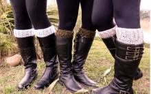 Boot Cuffs Punhos de Tricô Para Bota – Como Fazer