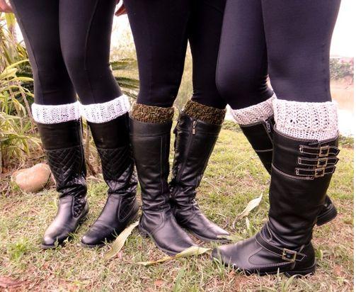 Boot Cuffs Punhos de Tricô Para Botas - Como Fazer