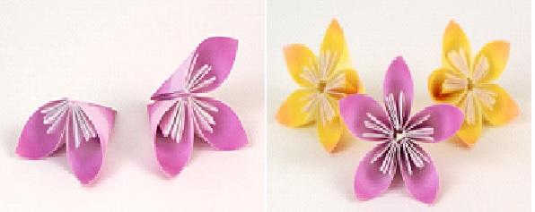 Buque em Kusudama  flores