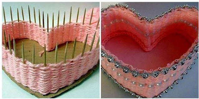 Caixa Coração de Palito de Dente .. Como Fazer