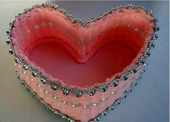 Caixa Coração de Palito de Dente