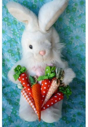 Cenoura de Tecido Para Decoração coelho