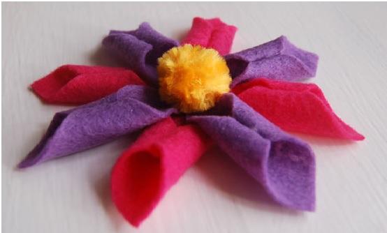 Flor de Feltro Primavera – Como Fazer