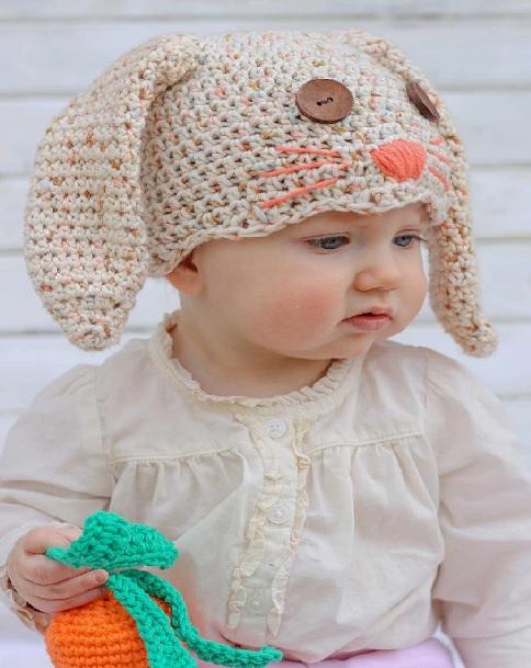 Touca Infantil de Coelho Crochê – Como Fazer