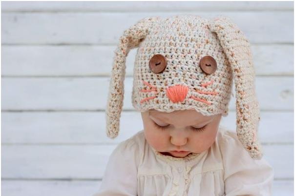 Touca Infantil de Coelho Crochê - Como Fazer baby