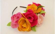 Arco de Cabelo Decorado Flores Feltro – Como Fazer
