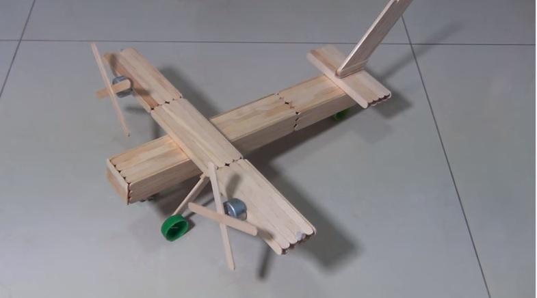 Avião Bimotor de Palitos Sorvete  Como Fazer