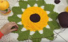 Flor Girassol em Crochê – Material e Vídeo