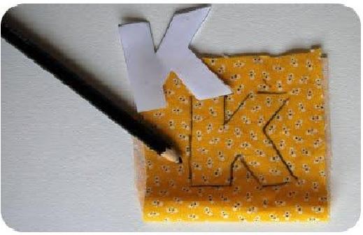 Letras Feita de Tecido - Como Fazer k