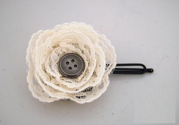 Presilha Com Flor de Renda – Material e Como Fazer