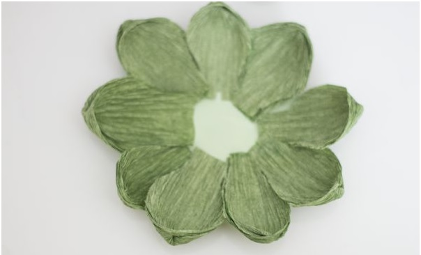 Suculentas flores  Papel Crepom cole