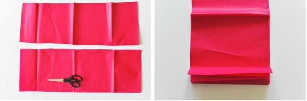 flor papel de seda corte