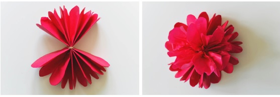 flor papel de seda pronta