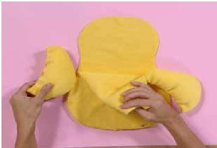 Almofada Pato em Tecido Partes
