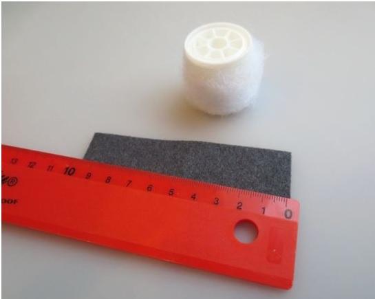 Frasqueira Feita de Feltro - Material e almofada