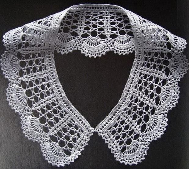 Gola Vintage de Crochê - graficos