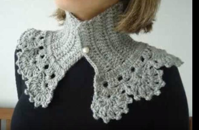 51bf149cec Gola Vintage de Crochê - Como Fazer e Vídeo