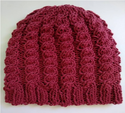 e80defa8b6b97 Gorro Feminino de Tricô Pink - Material e Receita