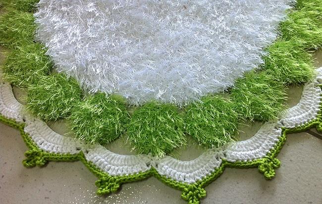 Tapete Decore Verde e Branca e Execução