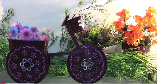 Triciclo de Cd Usado - Material e Como Fazer