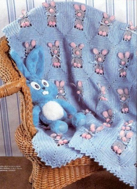 Manta Coelhinho em Crochê – Como Fazer