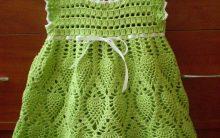 Vestido Infantil Floral de Crochê – Gráfico