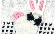 Bico Pano de Prato Coelhinho Em Crochê – Como Fazer