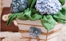 Flor Hortencia Em Fuxico – Passo a Passo