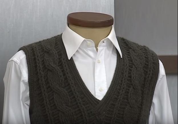 Pulôver Masculino em croche- Material