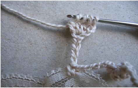 cachecolar renda Croche - passo abico